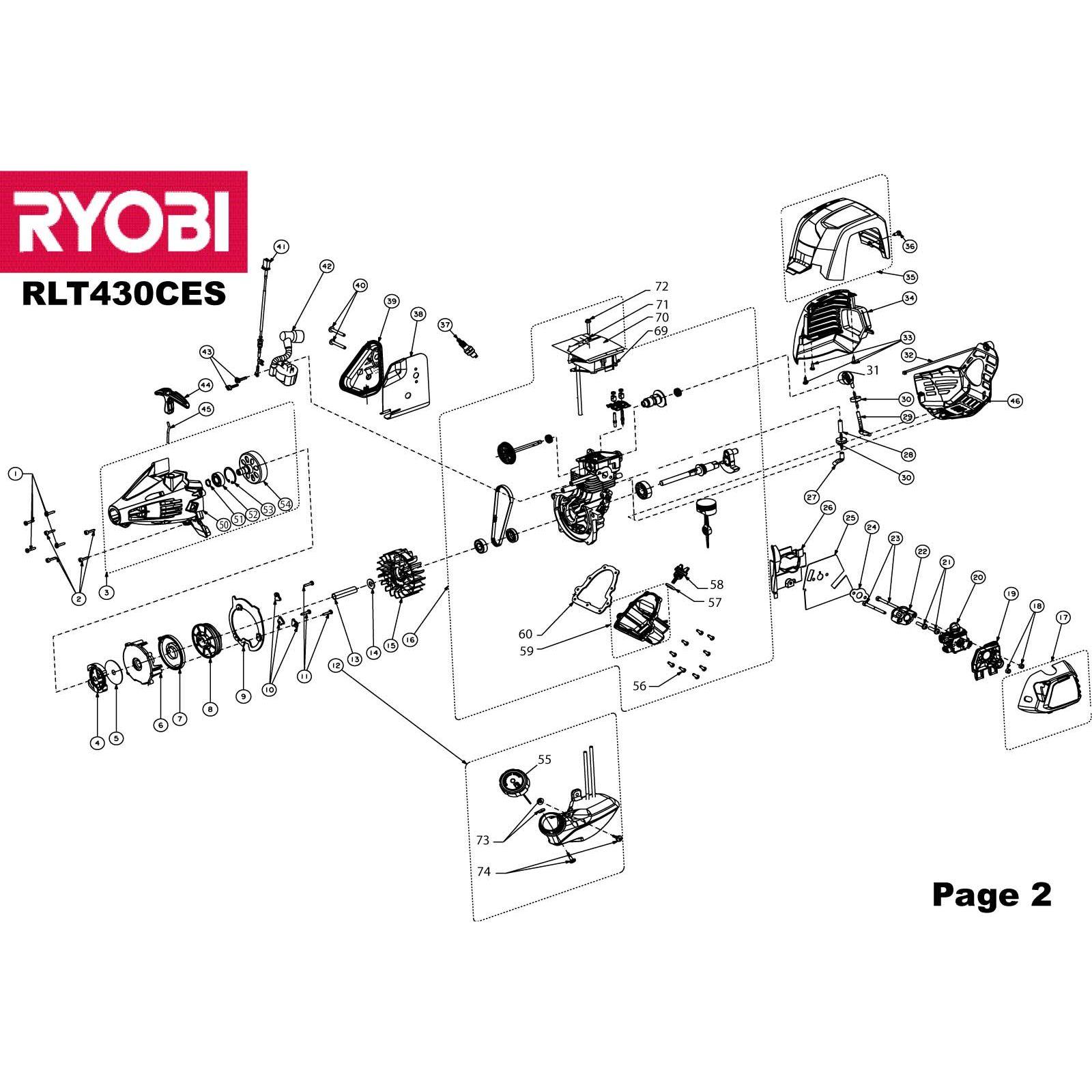 Ryobi RLT430CES PULLEY 5131001734 Spare Part