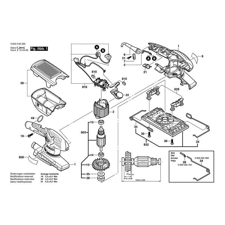 Pss 250 AE Gbm 350 S13 Pss 600 AE Kohlebürsten für Bosch Pss 200 AC