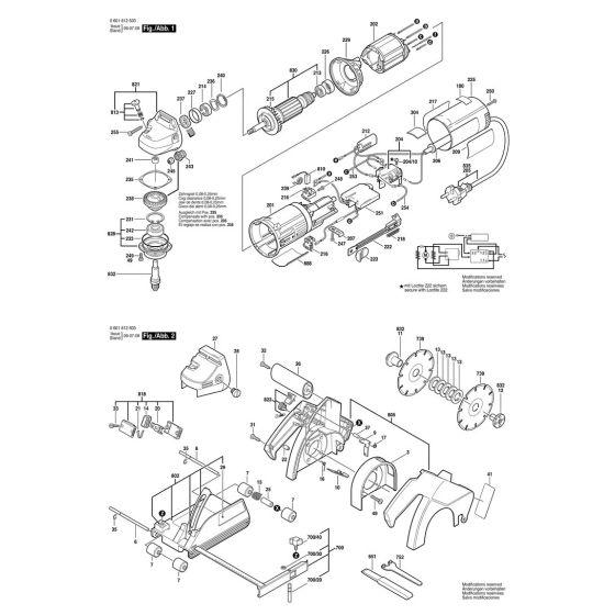 Bosch GNF 20 CA Spare Parts List Type: 601612541