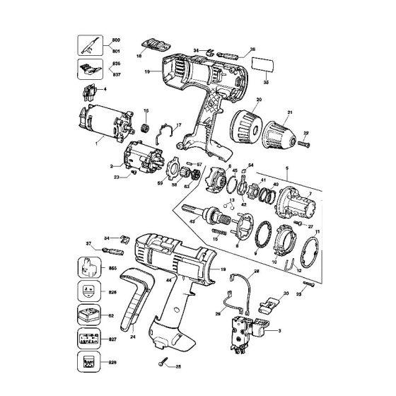 Dewalt DW912K Spare Parts List Type 3