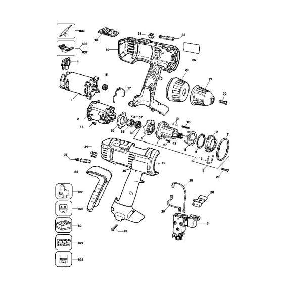 Dewalt DW972K Spare Parts List Type 3