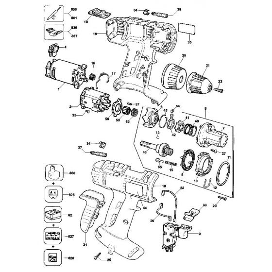 Dewalt DW912K Spare Parts List Type 4