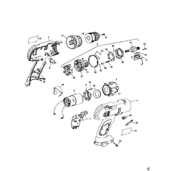 Dewalt DW953K Spare Parts List Type 5