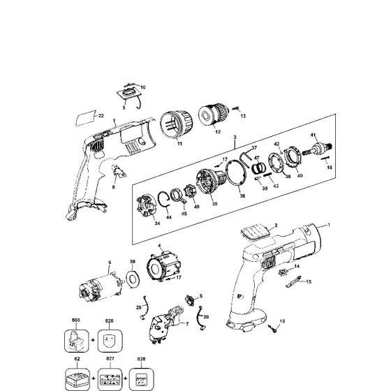 Dewalt DW976K Spare Parts List Type 5