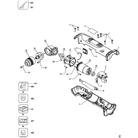 Dewalt DW965 Spare Parts List Type 2