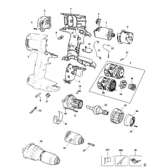 Dewalt DW980 Spare Parts List Type 11