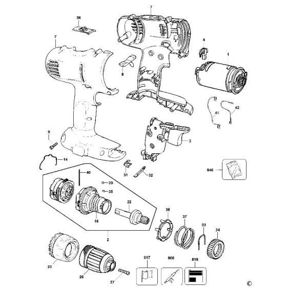 Dewalt DW956 Spare Parts List Type 11