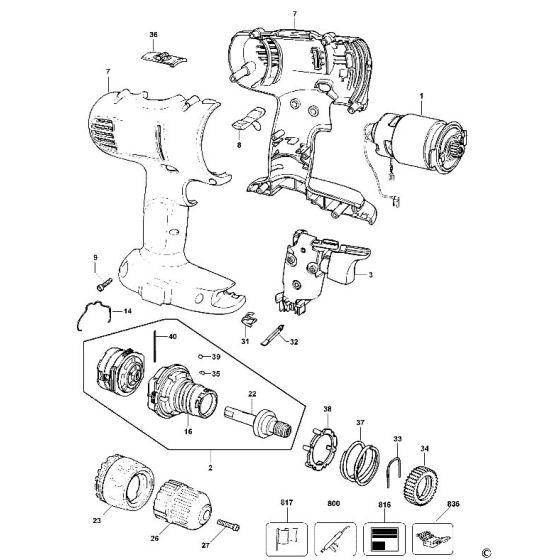 Dewalt DW927 Spare Parts List Type 11