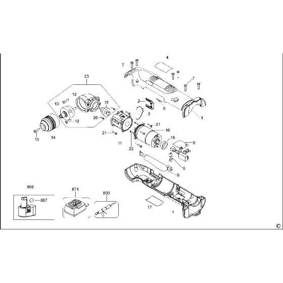 Dewalt DW965 Spare Parts List Type 3