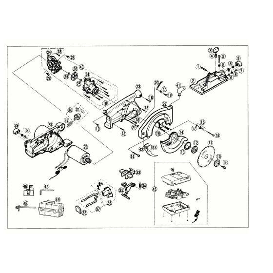 Panasonic EY3503 Spare Parts List