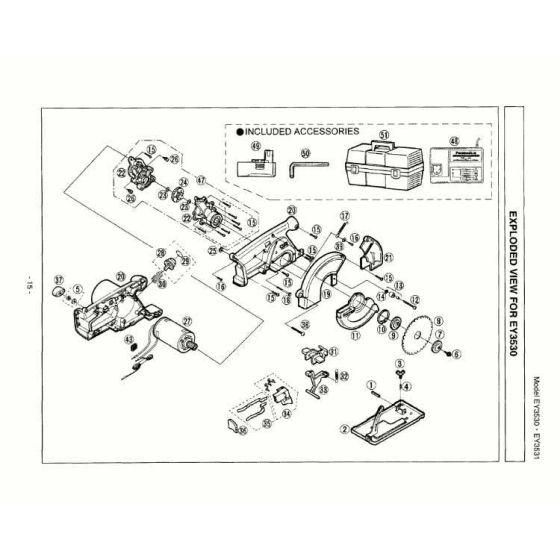 Panasonic EY3530 Spare Parts List