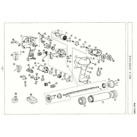 Panasonic EY3653 Spare Parts List