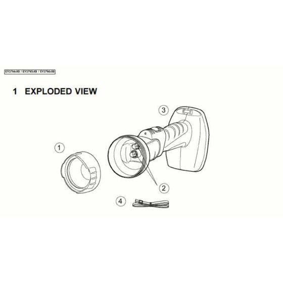 Panasonic EY3794 SHOULDER STRAP WEY3794K0277 Spare Part