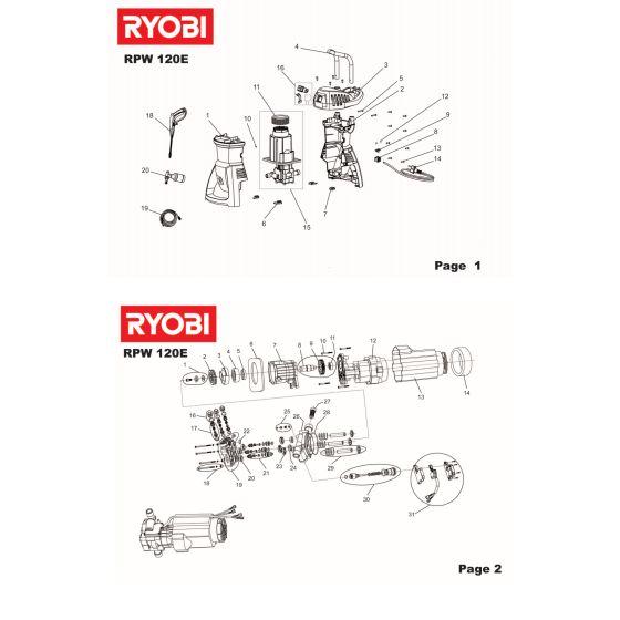 Ryobi RPW120E HOSE   099989003004 - 5131005124 Spare Part