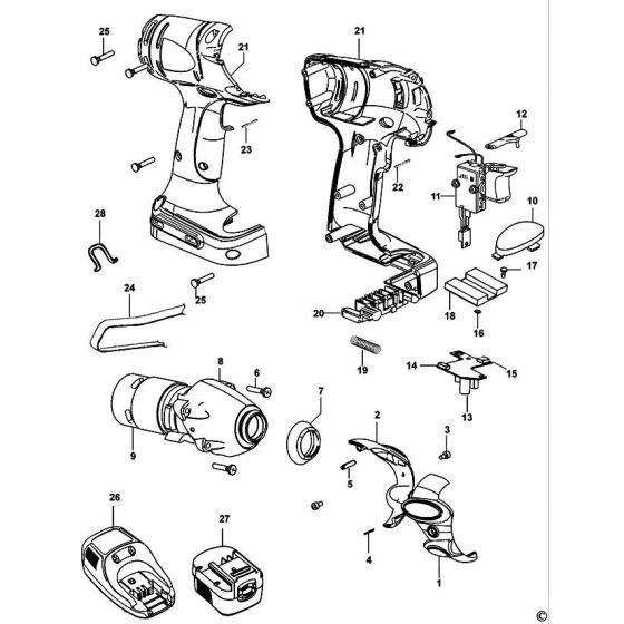 Black & Decker SX5000 Spare Parts List Type: 1