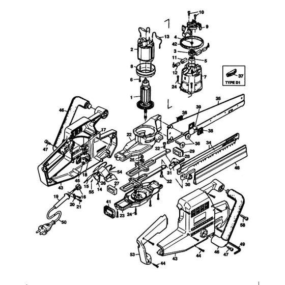 Black & Decker P4111G Spare Parts List Type: 42036