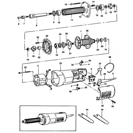 Black & Decker P7801 Spare Parts List Type: 1
