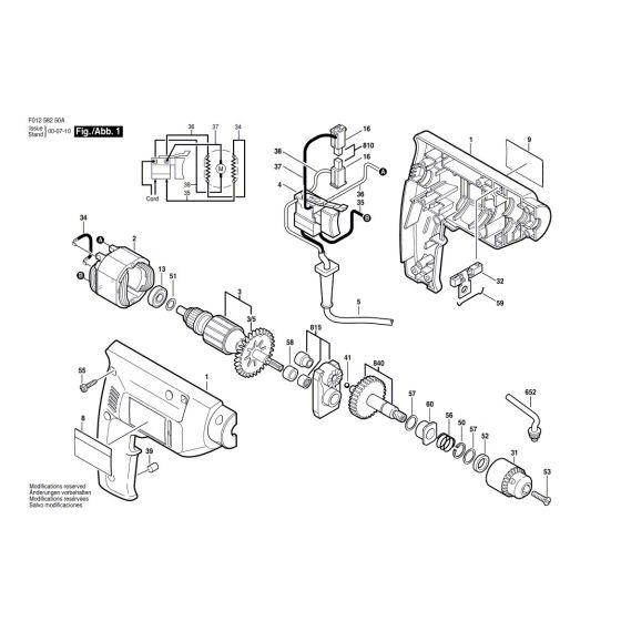 Skil 6425 Spare Parts List Type: F 012 642 50A 120V USA