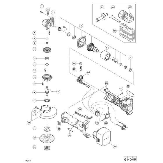 Hitachi G14DMR Spare Parts List