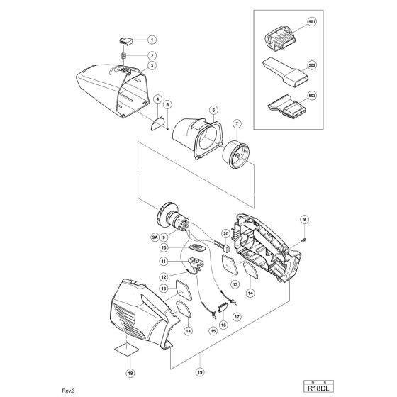Hitachi R18DL Spare Parts List