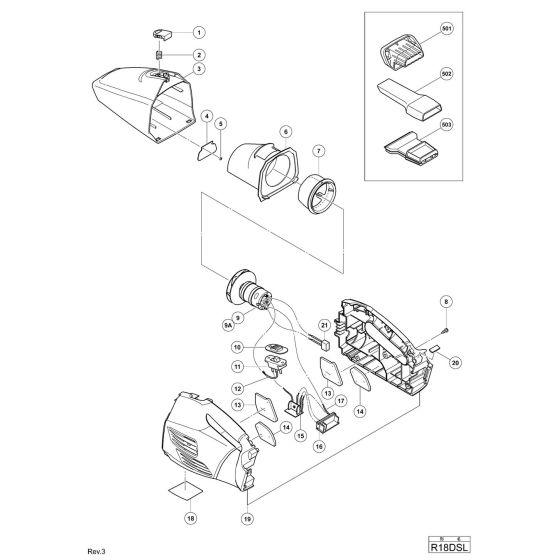 Hitachi R18DSL Spare Parts List