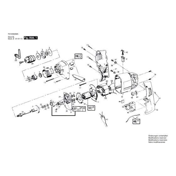 Skil 600 Spare Parts List Type: F 012 060 08A 120V USA