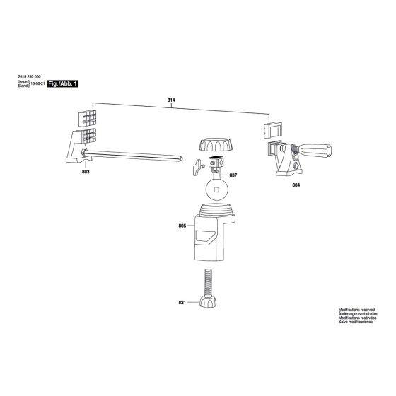 Dremel 2500 Spare Parts List Type: 2 615 250 0JB