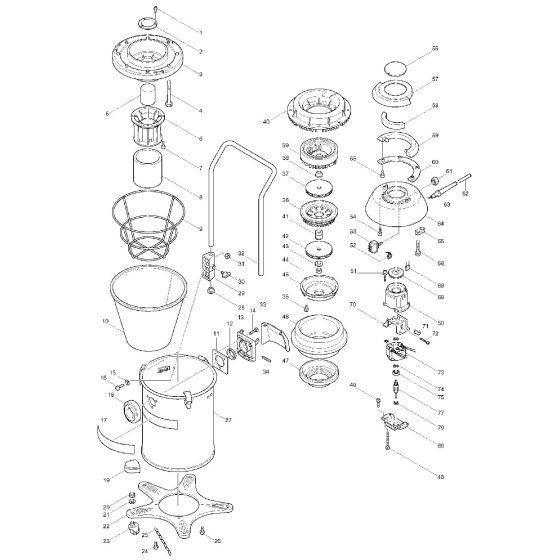 Panasonic EY0230 Spare Parts List