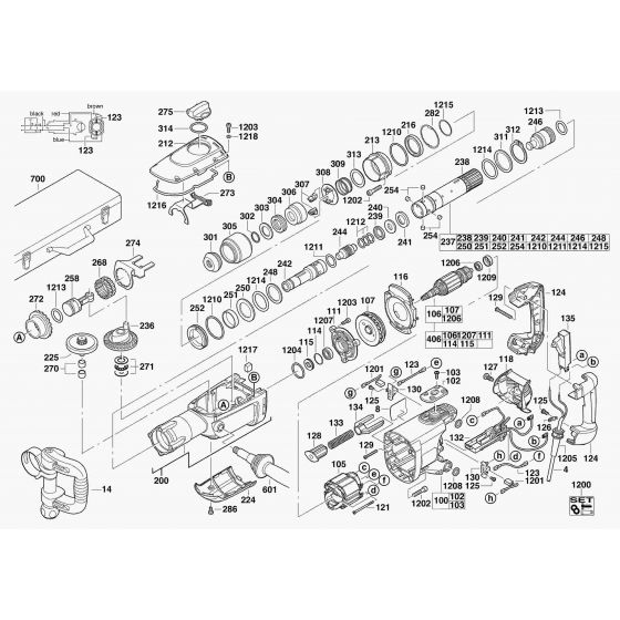 Buy A AEG PM10E  Spare part or Replacement part for Your SDS Hammer and Fix Your Machine Today