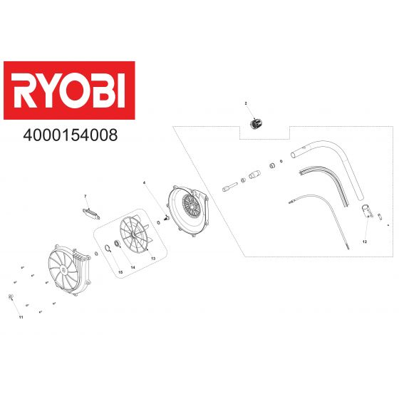 Buy A Ryobi ABE04  Spare part or Replacement part for Your Brushcutter and Fix Your Machine Today