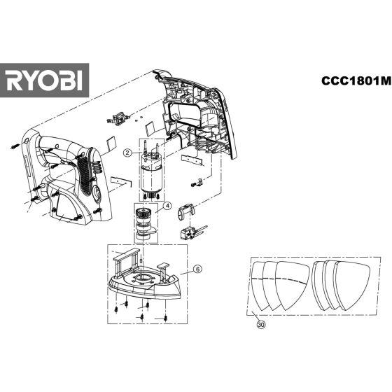 Ryobi CCC1801M Spare Parts List Type: 5133001045