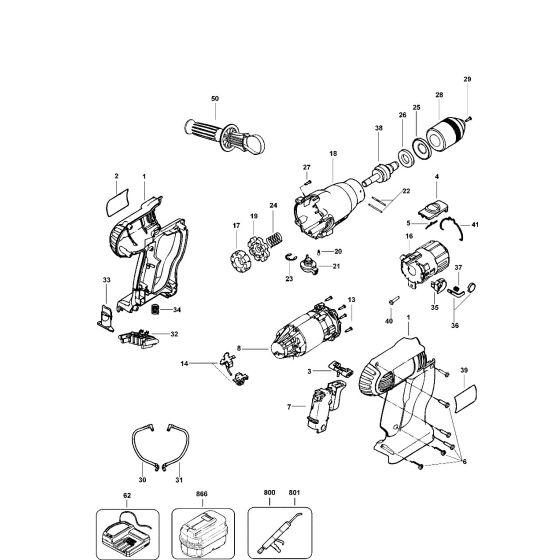 Dewalt DW006K Spare Parts List Type 16