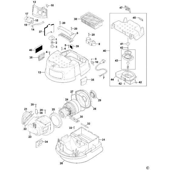 Dewalt D27901 Spare Parts List Type 1