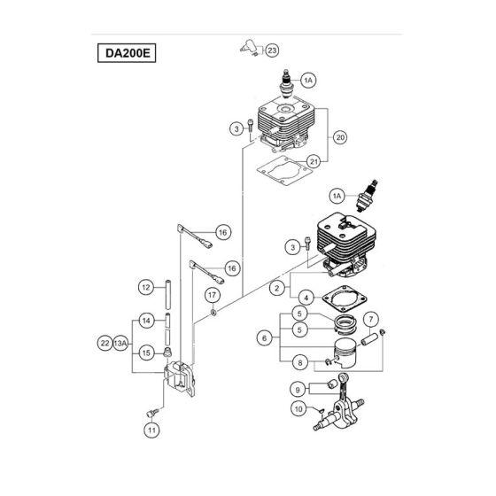 Hitachi DA200E Spare Parts List