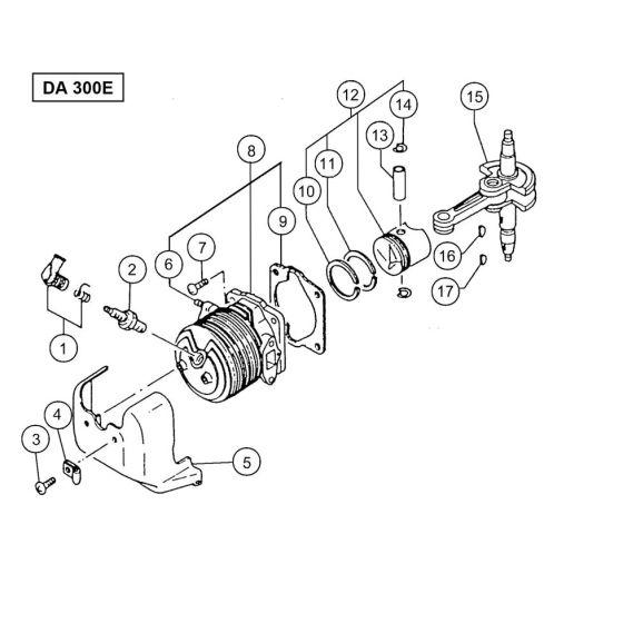 Hitachi DA300E Spare Parts List