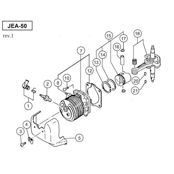 Hitachi JEA-50 Spare Parts List