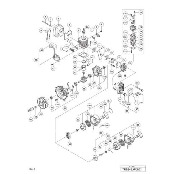 Tanaka TRB24EAP Spare Parts List