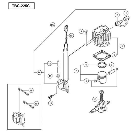 Tanaka TBC-225C Spare Parts List