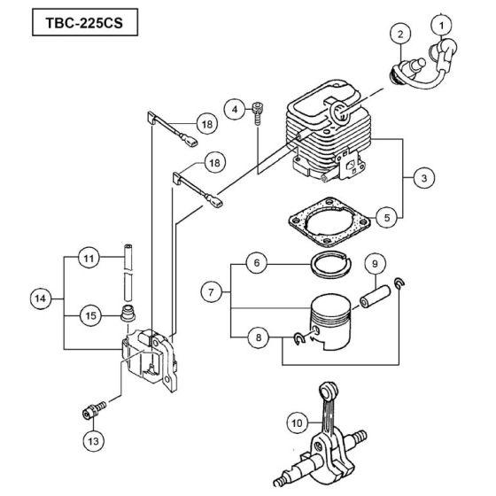 Tanaka TBC-225CS Spare Parts List