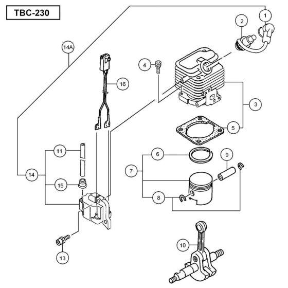 Tanaka TBC-230 Spare Parts List