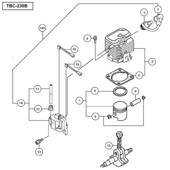 Tanaka TBC-230B Spare Parts List