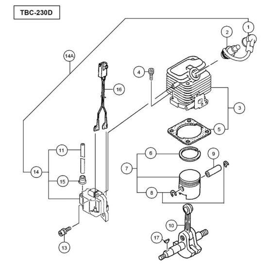 Tanaka TBC-230D Spare Parts List