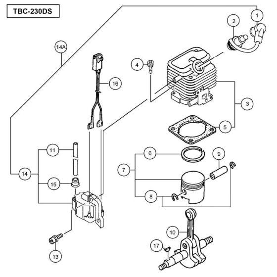 Tanaka TBC-230DS Spare Parts List