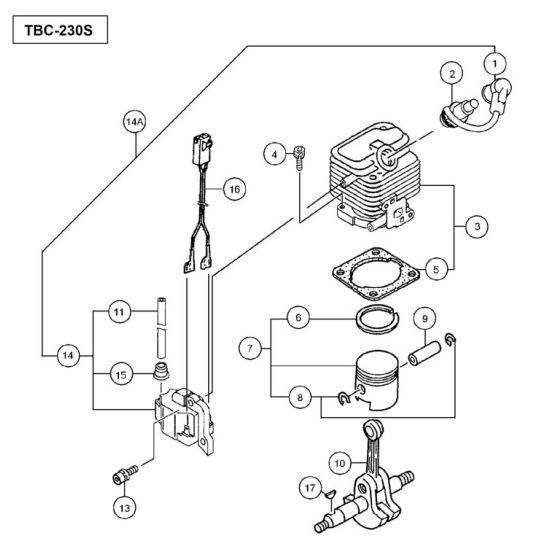 Tanaka TBC-230S Spare Parts List