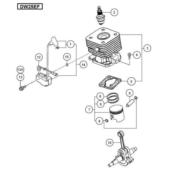 Hitachi DW25EF Spare Parts List