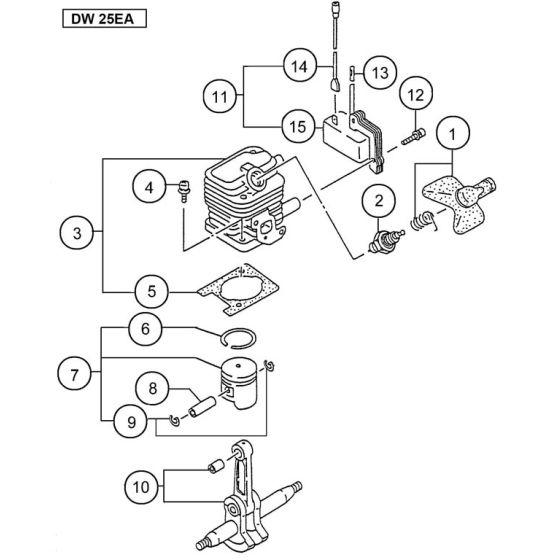 Hitachi DW25EA Spare Parts List