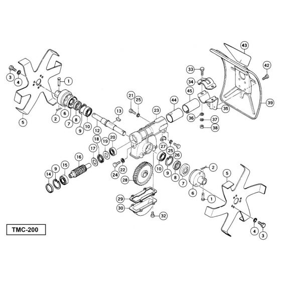 Tanaka TMC-200 Spare Parts List