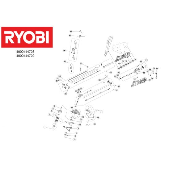 Ryobi RBC1226I PART NOT DEATAILED 1000063920 Spare Part Type: 513300506 Exploded Parts Diagram
