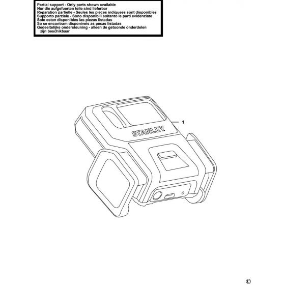 Stanley STHT1-77366 Spare Parts List Type 1